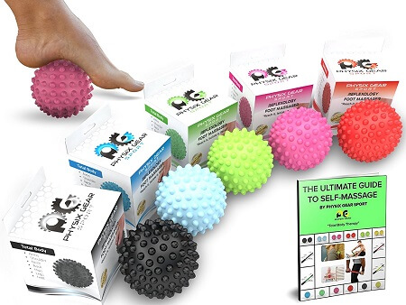 The colors of Massage Balls determine the size