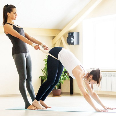 yoga belt is used in physiotherapy and manual therapy
