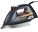 Brown steam iron