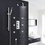 Shower system with thermostat